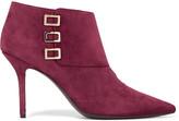 Roger Vivier Embellished suede ankle boots