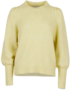 Neo Noir - Yellow Soft Kelsey Puff Long Sleeve Sweater - xsmall