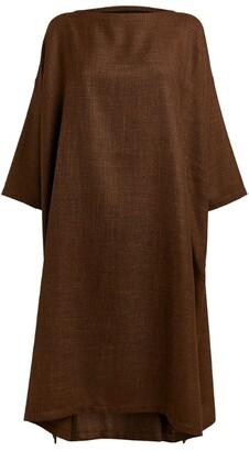 eskandar Wide Boat-Neck Dress