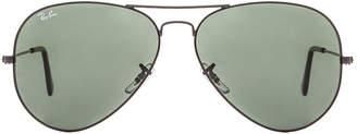 Ray-Ban Aviator Large Metal II Sunglasses in Black | FWRD