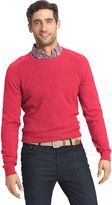 Izod Men's Classic-Fit 12gg Waffle-Weave Wool-Blend Crewneck Sweater