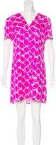 Balenciaga Silk Abstract Print Dress