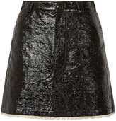 Sonia Rykiel Lacquered Cotton Mini Skirt