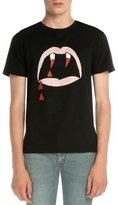 Saint Laurent Vampire-Graphic Short-Sleeve T-Shirt, Black