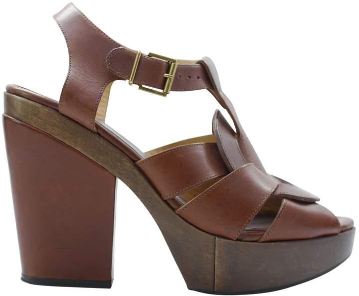 Rob-ert Robert Clergerie Brown Leather Sandals
