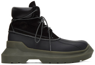 Undercover Black Panelled Boots