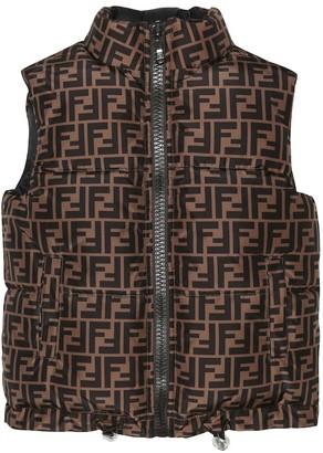 Fendi Kids Reversible puffer vest