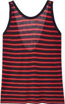 Alexander Wang Striped stretch-jersey tank