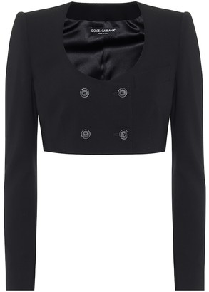 Dolce & Gabbana Cropped stretch-wool jacket