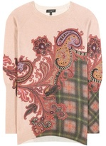 Etro Printed Wool And Cashmere Sweater
