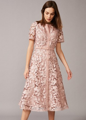 Phase Eight Samana Lace Shirt Dress