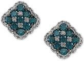 Effy Diamond Checkerboard Stud Earrings (1-3/8 ct. t.w.) in 14k White Gold