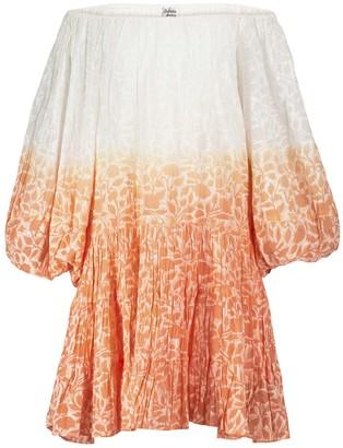 Juliet Dunn Floral cotton off-shoulder minidress