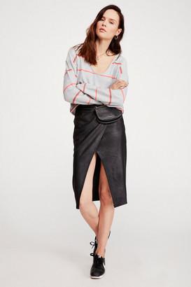 Free People Whitney Vegan Leather Pencil Skirt