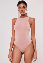 Missguided Nude Seamless Racer Neck Bodysuit