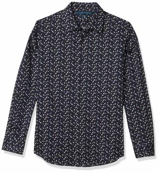 Perry Ellis Men's Confetti Print Stretch Long Sleeve Button-Down Shirt