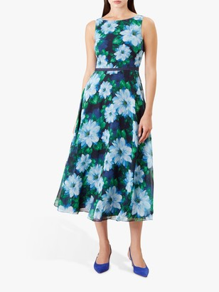 Hobbs Carly Midi Dress, Blue