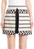 Alice + Olivia Women's Daysi A-Line Mini Skirt