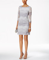 Jessica Howard Petite Illusion Stripe Lace Sheath Dress