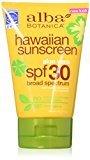 Alba Hawaiian, Aloe Vera Sunscreen SPF 30, 4 Ounce