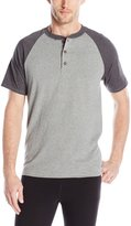 Hanes Men's X-Temp Short Sleeve Colorblock Henley