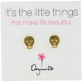 Dogeared It's The Little Things Earrings Skull Earring