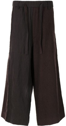Ziggy Chen Paperbag Panelled Trousers