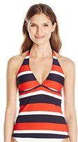 Nautica Women's Americana Safe Haven Halter Tankini