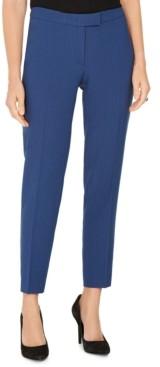 Anne Klein Pinstriped Tab-Waist Dress Pants