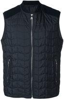 Salvatore Ferragamo quilted gilet - men - Polyester/Spandex/Elastane/Virgin Wool - 48