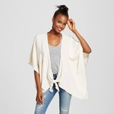 Xhilaration Women's Knot-front Kimono Jacket Juniors') Cream