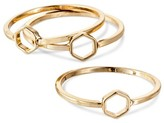 Women's Set of 3 Rings - Gold