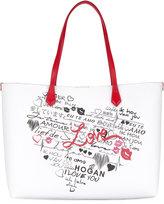 Hogan - heart print tote - women -