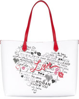 Hogan heart print tote - women - Leather - One Size