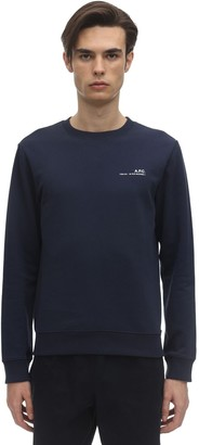 A.P.C. Logo Detail Cotton Jersey Sweatshirt