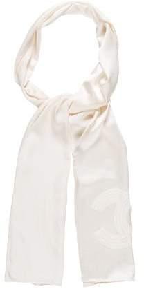 Chanel CC Camellia Silk Stole