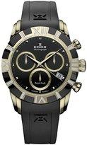 Edox Women's 10405 357JN NID Royal Lady Gold and PVD Rubber Chrono Watch