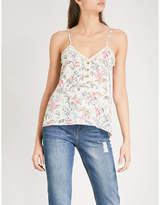 The Kooples Botanic-print silk crepe camisole