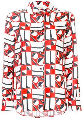 La DoubleJ Geometric Pattern Shirt