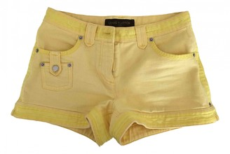 Louis Vuitton Yellow Cotton Shorts