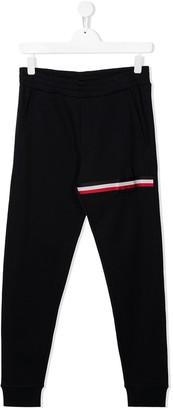Moncler Enfant TEEN logo stripe track trousers