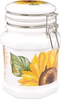 Spigarelli Sunflower Airtight Seal Ceramic Canister