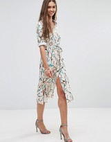 Darling Floral 3/4 Sleeve Shirt Dress