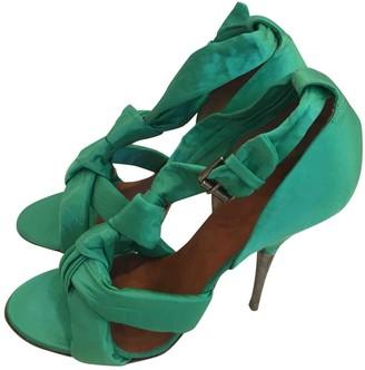 Dries Van Noten Green Cloth Sandals