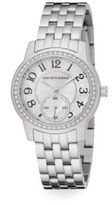 Saks Fifth Avenue Mother-Of-Pearl, Pav? Crystal & Stainless Steel Watch