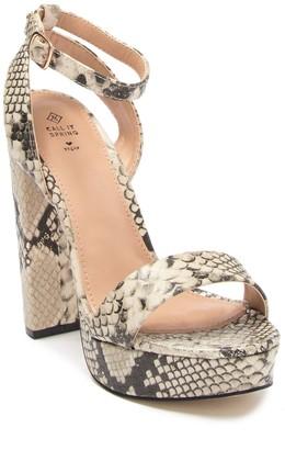 Call it SPRING Haaudia Platform Heel