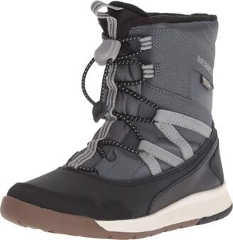 Merrell Snow Crush Waterproof Boot Big Kid 2 Grey/Black
