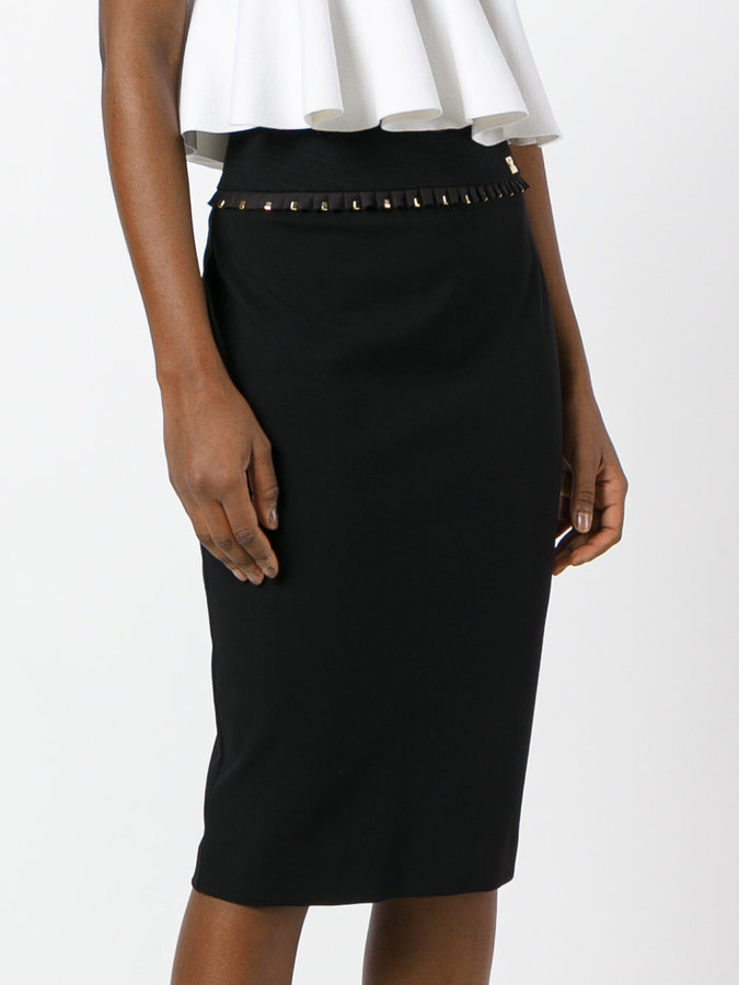Class Roberto Cavalli contrast pencil skirt