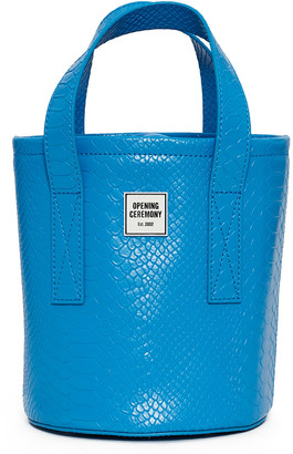 Opening Ceremony Medium Croc Bucket Bag