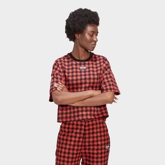 adidas Women's R.Y.V. Plaid Crop T-Shirt